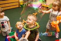 Мини шоу мыльных пузырей